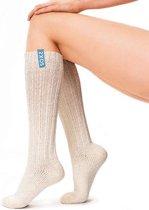SOXS® Lange Sokken Wit –Wollen Sokken Dames – Maat 37/41 – Gebroken Wit