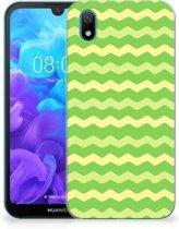 TPU bumper Huawei Y5 (2019) Waves Green