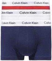 Calvin Klein Low Rise Trunks Boxershort (3-pack) - Wit/Blauw/Rood - Maat S