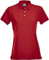 Premium dames polo rood m