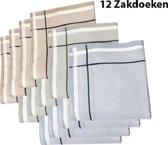Zakdoeken - Heren - 12 zakdoeken - Sorprese - cadeauset - heren zakdoeken - zakdoek - 8