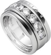 Diamonfire - Zilveren combinatiering Maat 19.5 - 3 delen - Glad zirkonia - Diamonfire