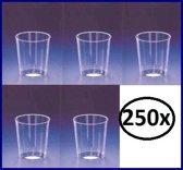 Shotglaasjes - 40 cc - 250 stuks - Plastic