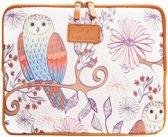 """#DoYourMobile - 10"""" Etui van canvas voor tablet of laptop - Beschermhoes - Draagtas - Design: Mooie Vogels"""