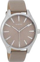 OOZOO Timepieces Taupe horloge  (42 mm) - Bruin