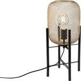 QAZQA bliss - Tafellamp - 1 lichts - H 480 mm - Goud/messing