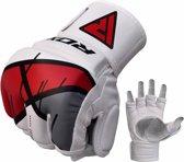 RDX Grappling Gloves REX T7 - Rood XL - Leer