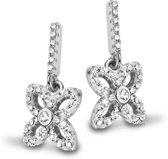 Velini jewels -EA6519W -Oorbellen -925 Zilver gerodineerd-Cubic Zirkonia