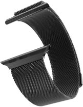 Milanese Loop Armband Voor Apple Watch Series 1/2/3 38 MM Iwatch Metalen Milanees Horloge Band - Zwart