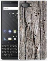 BlackBerry Key2  Hoesje Oud hout