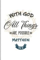 With God All Things Are Possible Matthew 19