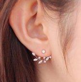 Bladvormige zilverkleurig oorbellen 2.0