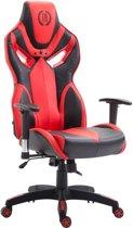 Clp Racing bureaustoel FANGIO gaming chair - Kunstleer - Zwart/rood