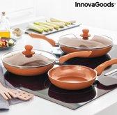 InnovaGoods Copper-Effect Pannenset (5 Stuks)