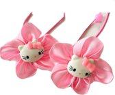 2 Hello Kitty haar elastiekjes roze