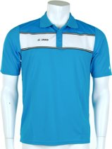 Jako Polo Player - Sportpolo -  Heren - Maat S - Azur Blue;White