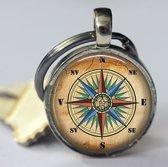 Kompas  sleutelhanger voor vrouwen of mannen