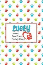 Lucky Leaves Paw Prints on My Heart