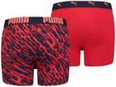 Puma 2-pack jongens boxershorts - navy/red