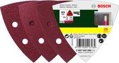 Bosch 25-delige schuurbladenset voor deltaschuurmachines - korrel 60; 120; 240