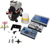 vidaXL - 140284 Compressor - Airbrush set met 3 spuitpistolen