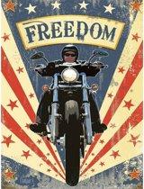 Grote muurplaat Motorbikes Freedom 30x40cm