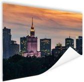 Warschau wolkenkrabbers Poster 180x120 cm - Foto print op Poster (wanddecoratie woonkamer / slaapkamer) / Steden Poster XXL / Groot formaat!