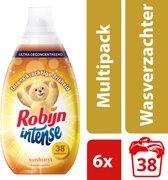 Robijn Intense Sunburst Wasverzachter - 228 wasbeurten - 6 x 570 ml