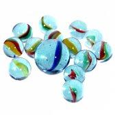 81 x Glazen knikkers,  een halve kilo - Buitenspeelgoed - knikkeren