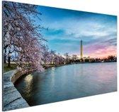 Washington monument bij zonsopkomst Aluminium 120x80 cm - Foto print op Aluminium (metaal wanddecoratie)