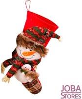 Mega Kerst Sok Sneeuwpop 50cm