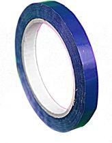 5 rollen - Tape - blauw - 12mm x 66mtr - zakkensluiter