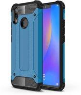 Let op type!! Diamond Armor PC + TPU warmtedissipatie beschermende case voor Huawei Nova 3i (blauw)