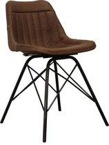 LL - Design leren stoel - chair - Bruin - leer