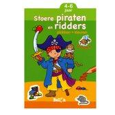 Stoere Ridders En Piraten (Plakken En Kleuren) + 4 Stickervel
