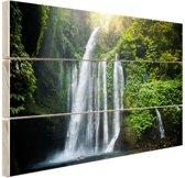 FotoCadeau.nl - Waterval Lombok Indonesie Hout 80x60 cm - Foto print op Hout (Wanddecoratie)
