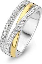 Moments Ring  15089AY/58 Zilver geelgoudverguld 18.50 mm (58) Ring met stenen Zirkonia