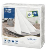 Tork linstyle servetten 2-laags - wit