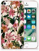 iPhone SE | 5S Uniek TPU Hoesje Flowers