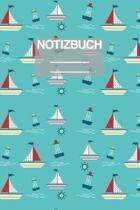 Notizbuch A5 Muster Boote Boot Meer See Seefahrt Kapit�n Capitan: - 111 Seiten - EXTRA Kalender 2020 - Einzigartig - Liniert - Linie - Linien - Gesche