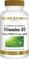 Golden Naturals Vitamine D3 25 mcg. 1000 I.E. (120 softgel capsules)