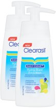 Clearasil Daily Clear 3-in-1 Wash - Reinigingslotion - 2 x 150 ml - Grootverpakking