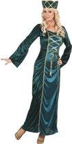 Groen Middeleeuwse koningin kostuum voor vrouwen Verkleedkleding Small