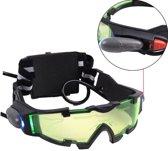 Nachzicht Bril Met LED Verlichting - Groene Night Vision Nachtbril Nachtkijker