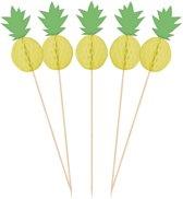 Amscan Partyprikkers Ananas Geel/groen 10 Stuks