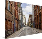 Oude straat bij Liverpool in Engeland Canvas 120x80 cm - Foto print op Canvas schilderij (Wanddecoratie woonkamer / slaapkamer) / Europese steden Canvas Schilderijen