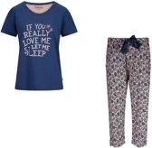 Charlie Choe pyjama meisjes - grijs - Bonne nuit - maat L