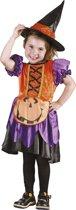 St. Kinderkostuum Pumpkin witch (3-4 jaar)
