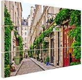 Bastille District in Parijs Hout 60x40 cm - Foto print op Hout (Wanddecoratie)