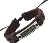 Fako Bijoux® - Armband - Leder - Dream - Bruin